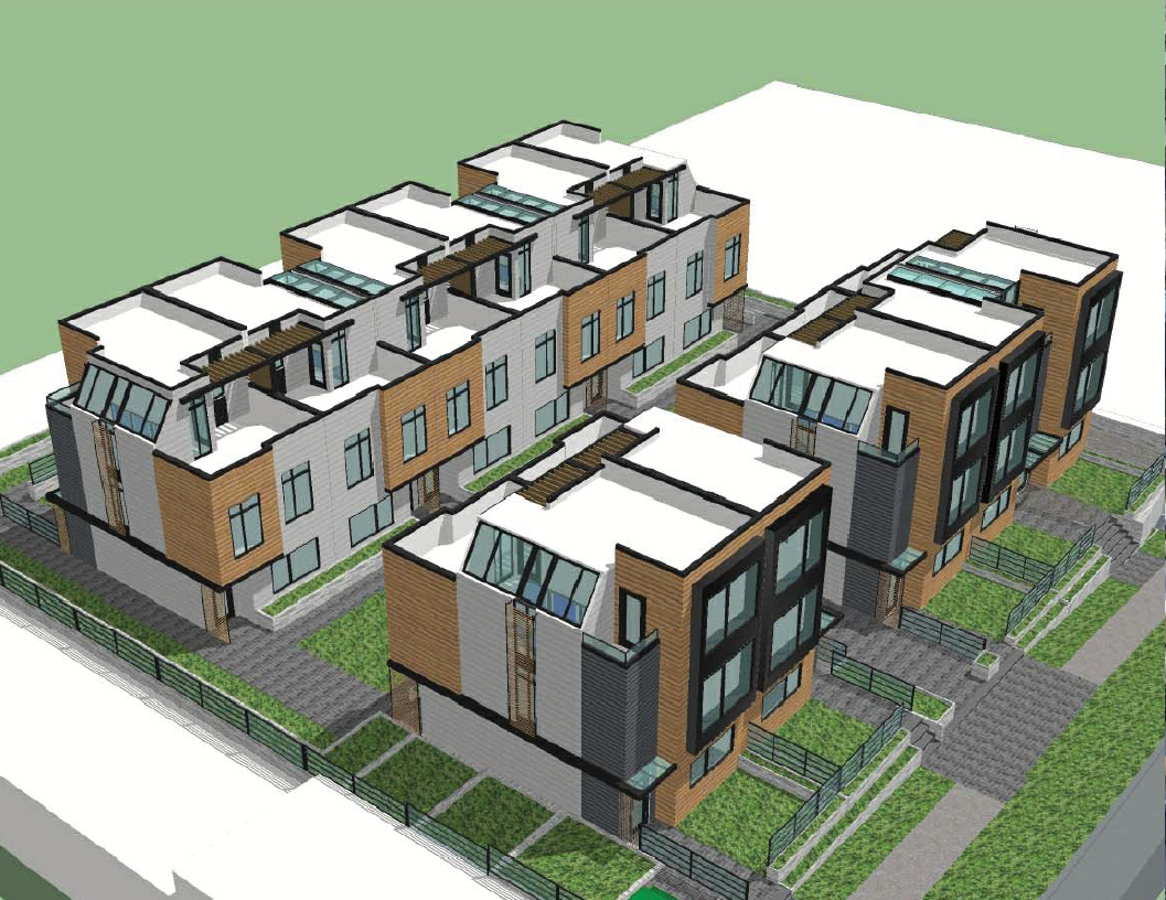Townhouse development site